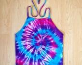 Tie Dye Halter Top - Handmade - Spiral Tie Dye - Festival Fashion - Crop Top - Sizes Small-Large