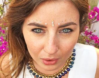 Glastonbury bindi set - Face gems stick Bindi dots Jewels Bindi Dots Bindis Beauty Body Art Accessories Festival Birthday Gift For Her