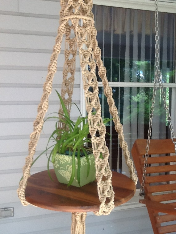 Macrame Hanging Table In Jute Colored 6 Mm Polyolefin Unique