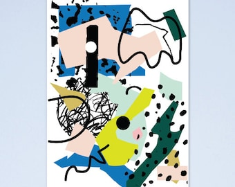 SALE! Abstract arty art print A4 03