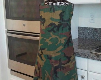 Boys camouflage apron.