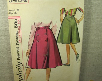 Vintage Sewing Pattern - Simplicity #5434 - Size 26