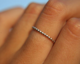 AURA RING · sterling silver ring · made to order · sterling · stacker · ring · handmade ring