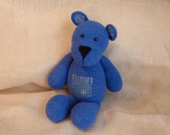 Stuffed crocheted toy bear