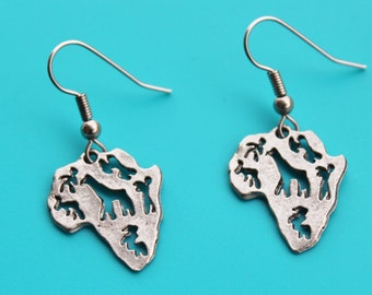 AFRICAN MAP EARRINGS,africa,map,travel africa,missionary,african safari,18
