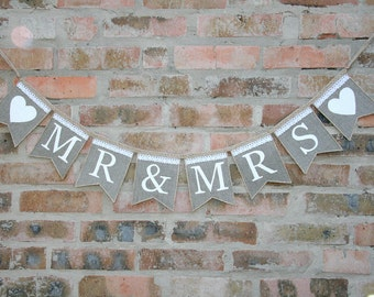 mr and mrs banner, mr and mrs banner,  MR & MRS burlap banner, mr and mrs  rustic Wedding banner, rustic wedding, mr and mrs sign