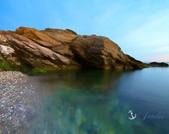 Pebble Beach ~ Beavertail State Park, Jamestown, Rhode Island, Seascape, Coastal Decor, Beach, Nautical, Wall Art, Photograph, Artwork