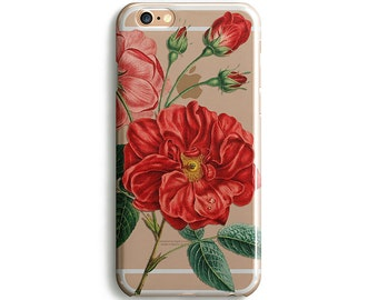 Red Flower iPhone 8 Case iPhone X Case Phone Cover Floral iPhone 7 Plus iPhone 6 Case iPhone 7 Case iPhone SE iPhone 4-5 Case Galaxy S8 Case