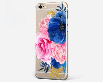 Clear iPhone 7 Case Love iPhone 6 Plus Cover Personalized iPhone 7 Case Transparent iPhone 6 7 Case Custom Galaxy S7 Case Flower iPhone 4-5