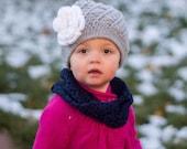 Toddler Crochet Hat Beanie Grey Baby Hat Winter