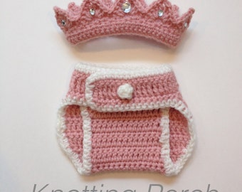 Newborn Princess Outfit, Newborn Girl Outfit, Newborn Girl Photo Prop, Newborn Photo Outfit, Newborn Girl Outfit, Baby Princess with Crown