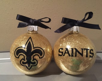 New Orleans Saints Ornament, Christmas Ornament, football team ornament