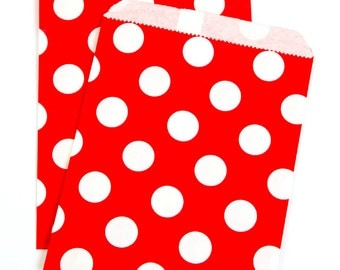 Red Polka Dot Treat Bags