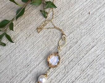 Long necklace, mk hicks long necklace, pendant necklace, Long charm necklace