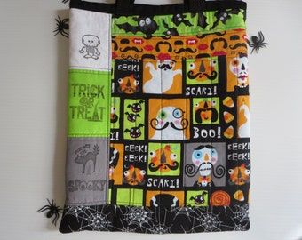 Bright and Colorful Kids Halloween Treat Bag // Halloween Trick or Treat Bag // Kid Friendly Treat Bag