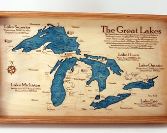 Great Lakes Serving Trays, a great Nautical Gift!