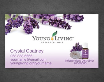 Young Living Business Cards Full Color by CrystalCoatney