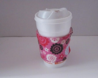 Flowered Coffee Sleeve Reusable