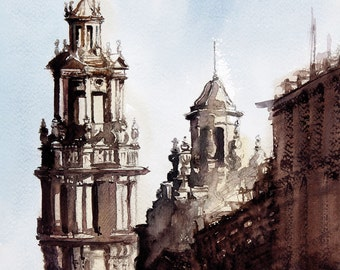 Barcelona Original Watercolor