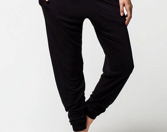 black legging joggers - slim harems - made in USA (Small/Medium)