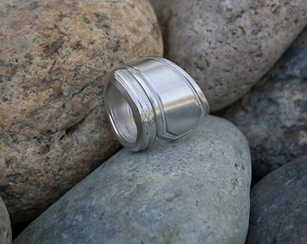 Silver Plate Silverware Handle Ring - Spoon Ring SR044