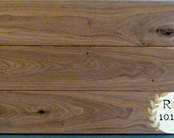 Custom Painted Wedding Guestbook Board, Walnut