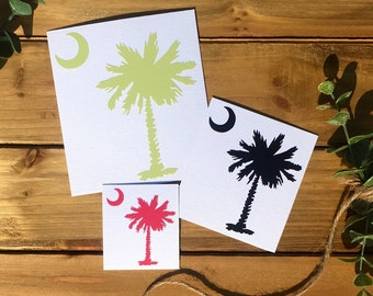 Free Shipping* Palmetto Tree with Crescent Moon Vinyl Decal