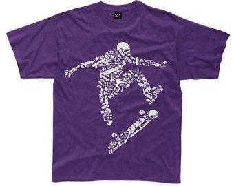 Skateboarder kids Children's T-Shirt - Skateboard Skateboarding Clothing