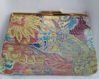 Quilted Silk Clutch Purse
