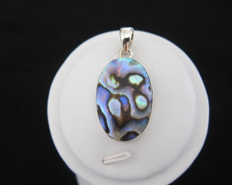 Abalone Shell Sterling Silver Pendant (S63)
