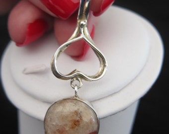 Sunstone Sterling Silver Pendant (S70)