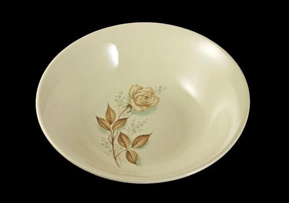 Mount Clemens, Vegetable Bowl, Brown Rose, Hard to Find Pattern, Ovenproof