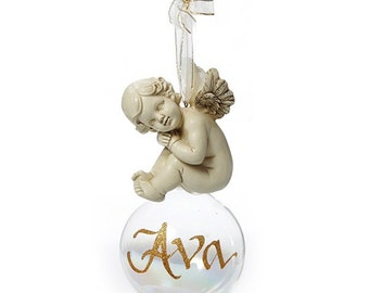 Personalised Cherub Baby Bauble