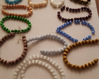 Cateye beads, round, oval,  jewelry supply, craft supply.bx21
