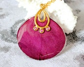 real rose terrarium necklace crimson gold resin jewelry romantic gifts for her red rose petal pendant wife gifts pourpre rose collier Pю41