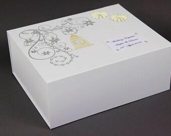 Wedding Memory Box/Engagement/Birthday/Personalised Keepsake Birdcage, Wedding Gift