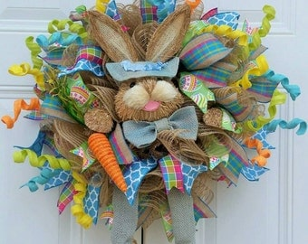 Easter Door Wreath - Easter Wreath for Front Door - Easter Wreath - Easter Decor - Easter Door Decor - Easter Gift - Ready to Ship - Gift