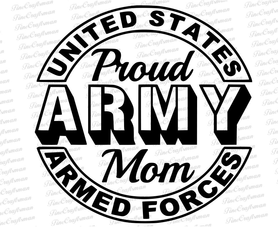 Army Decals Army Mom Decal US Armed Forces Proudly - Military window decals for cars