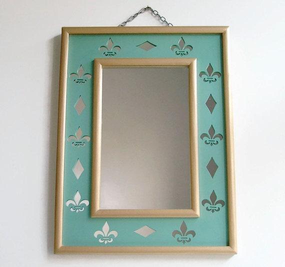 Fleur de lis miroir d coration murale miroir chambre miroir - Miroir decoration murale ...