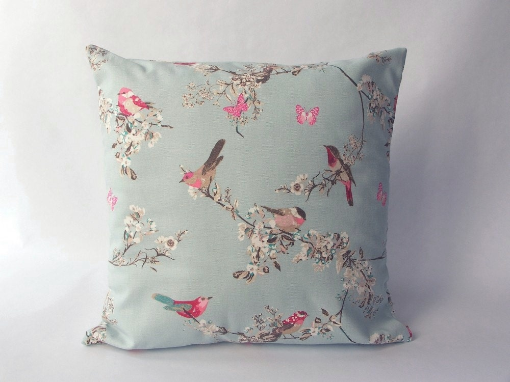 cushion cover made with a duck egg blue 100 cotton fabric. Black Bedroom Furniture Sets. Home Design Ideas