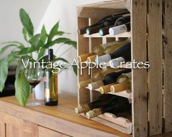 Vintage Apple Crate Wine Rack
