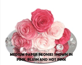 Paper Peonies, Coffee filter flowers, Home decor flowers, Baby shower Flowers, Paper flower decor, Faux flowers, Nursery floral decor