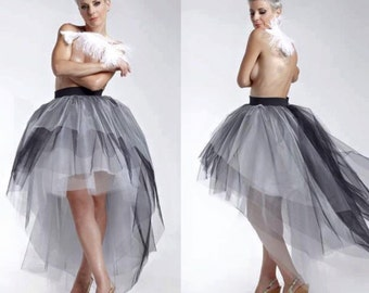 Womens Tulle Skirt Adult Tutu Boho Asymmetrical Wedding
