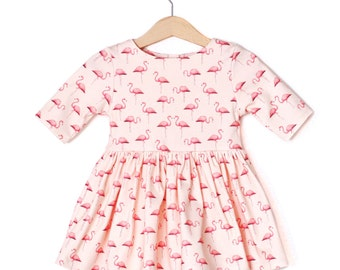 Flamingo Organic Cotton Baby Dress