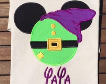Dopey Mickey Head Disney World Shirt Applique Disney Family Shirt