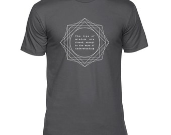 Lips of Wisdom Shirt - Kybalion (hermes, hermes shirt, thoth shirt, kybalion, kybalion shirt, occult shirt, occult t-shirt)