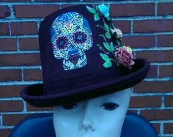 Day of the dead coachmens hat.