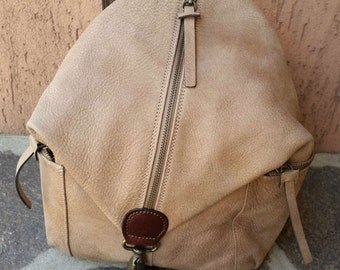 Rucksack taupe leather