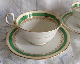 Aynsley Wendover green cup and saucer