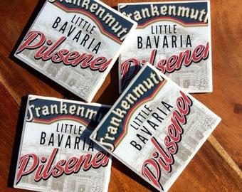 Frankenmuth Little Bavaria Pilsener Beer Coasters